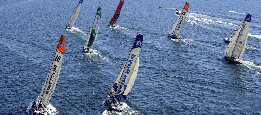 Round-the-world sailing regatta Volvo Ocean Race 2009 to the end