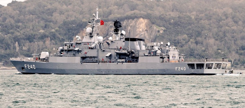 The frigate TCG Yavuz