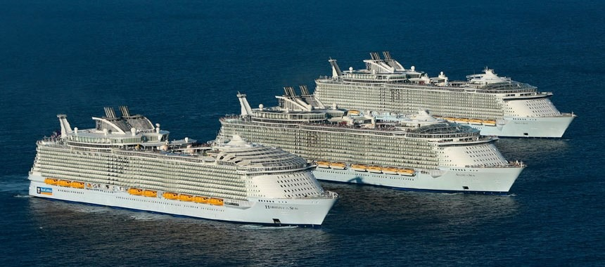 The three largest cruise liner in the world together