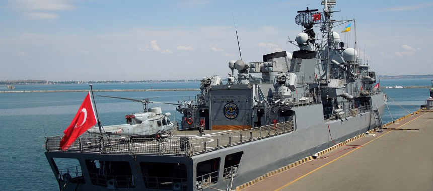 Frigate of the Turkish Navy TCG Yavuz