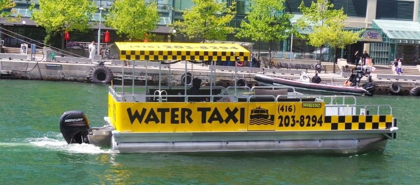 Water taxi of different countries