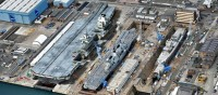 The newest aircraft carrier HMS Queen Elizabeth built