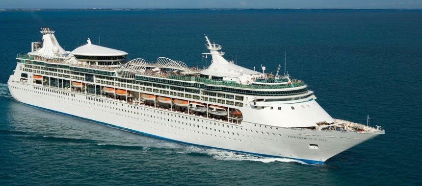The cruise ship Enchantment of the Seas for the Royal Caribbean Cruise Line