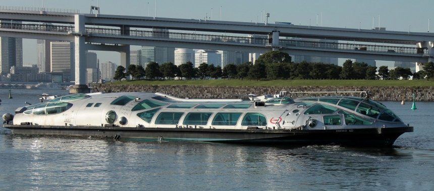 Water taxi in Tokyo