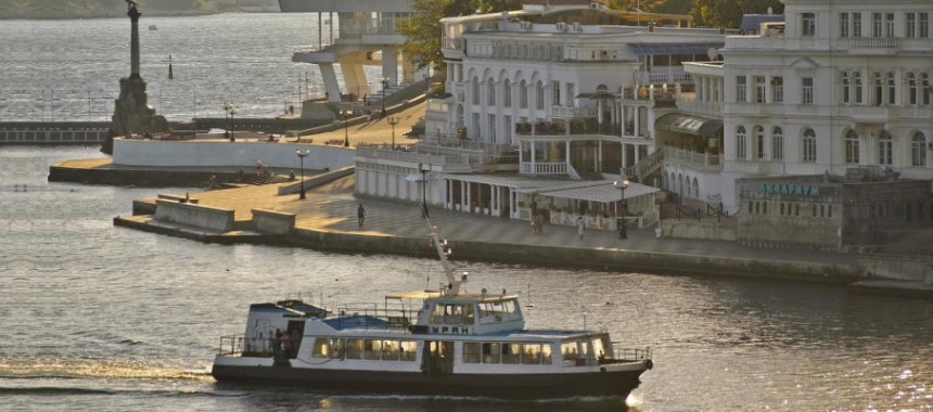 Route water taxi in Sevastopol