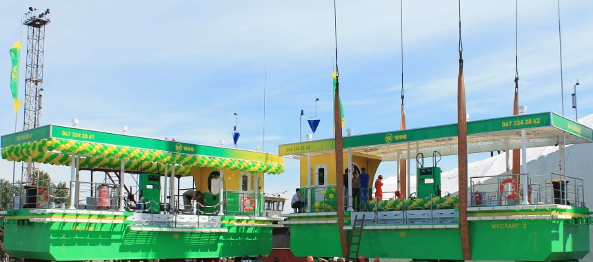 The oil loading bunkering vessels for the WOG gas station network have been launched