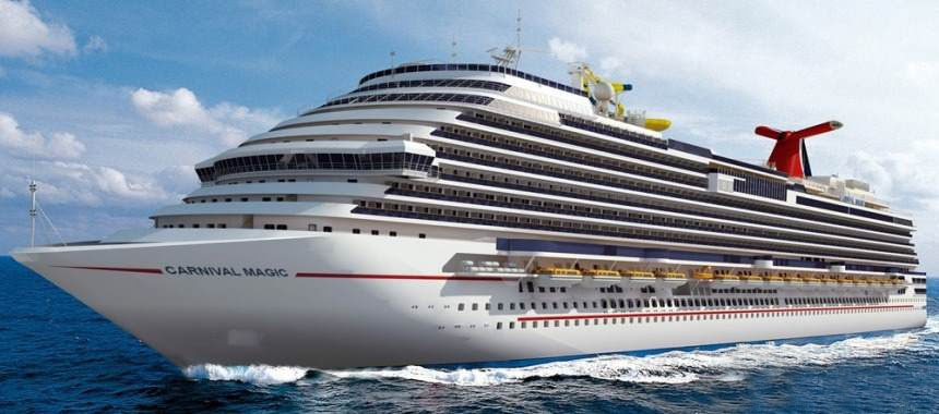 New cruise liner Carnival Magic for the Carnival Cruise Lines company