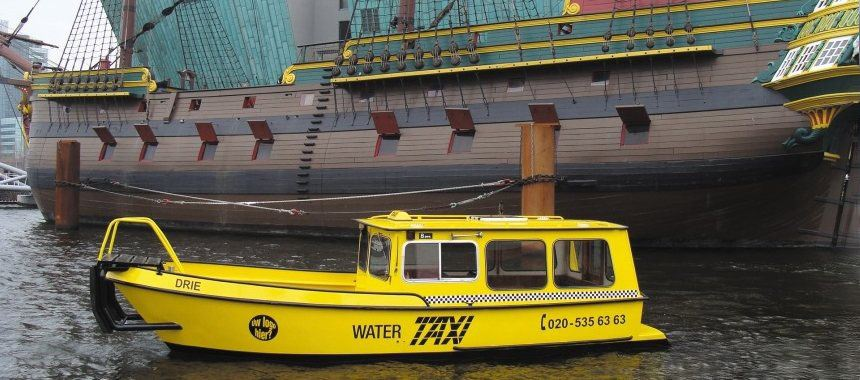Water taxi in Amsterdam