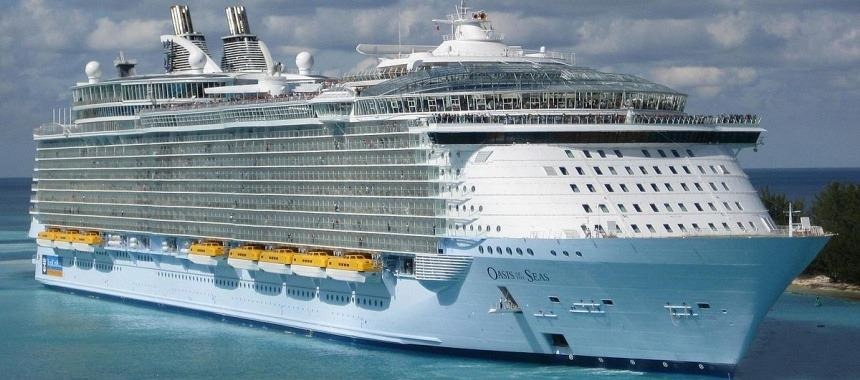 Liner-giant Oasis of the Seas passed the cruise company Royal Caribbean International