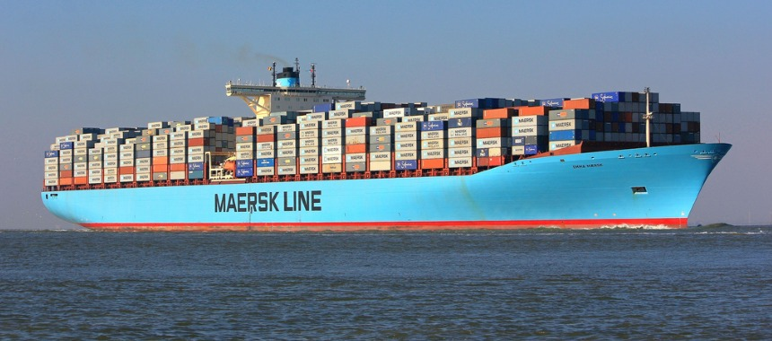 The container ship Emma Maersk
