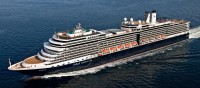 Passenger liner Eurodam the pride of the company Holland America Line