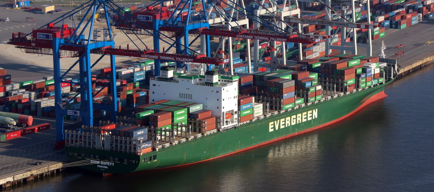 Container ship Evergreen Ever Safety