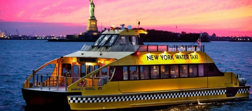 Water taxi in New York City