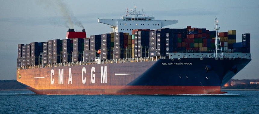 Container ship CMA CGM Marco Polo