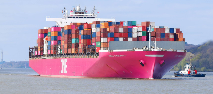 Container ship ONE HAMBURG
