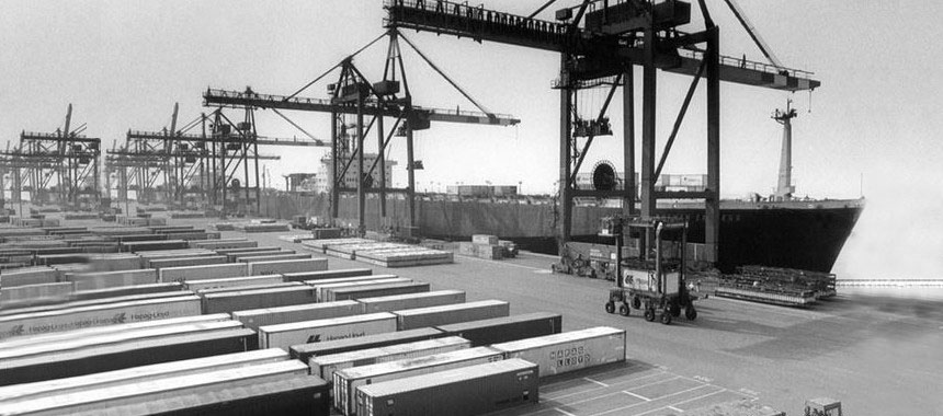 Container terminals in Bremerhaven in 1966